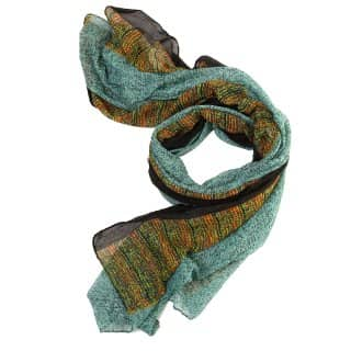 Wholesale blue victoria brick printed lightweight scarf