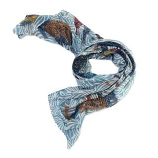 Wholesale large blue zebra printed lightweight scarf