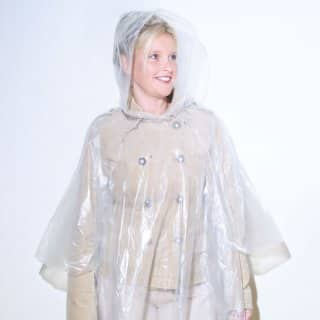 Wholesale lightweight polythene hooded poncho