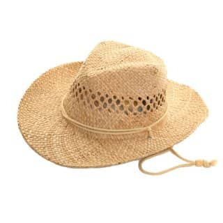 Wholelsae mens natural cowboy hat with elastic band