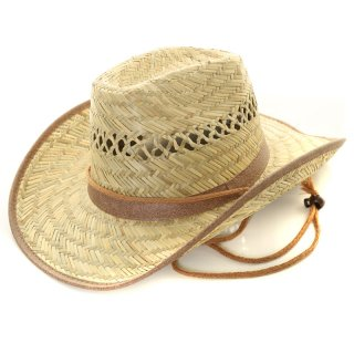 Wholesale adults straw cowboy hat with shapeable brim