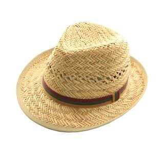 Wholesale mens bound edge straw trilby