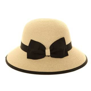 S201 - LADIES CRUSHABLE STRAW HAT WITH BOW
