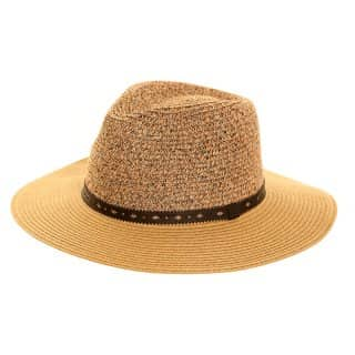 Bulk womens straw fedora hat with black band