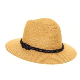 Wholesale womens straw fedora with a black cord band