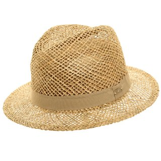 S261 - UNISEX STRAW FEDORA WITH COTTON BAND