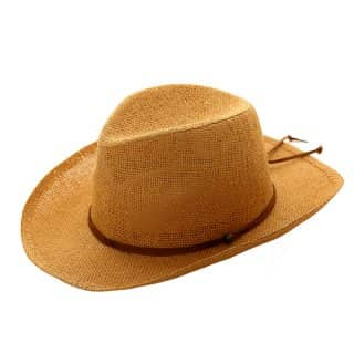 Wholesale unisex brown straw cowboy