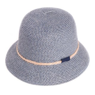 Wholesale blue ladies crushable straw bush hat