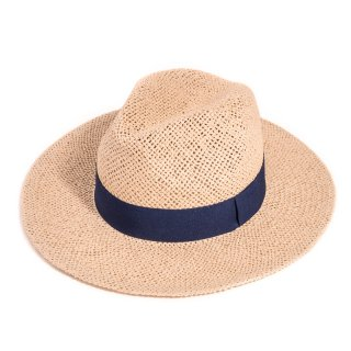 Wholesale adults unisex natural straw fedora with ribbon band