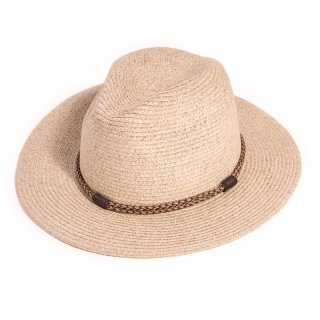 Wholesale adults unisex straw fedora hat with plait band