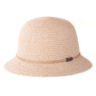 Bulk ladies beige crushable straw bush hat