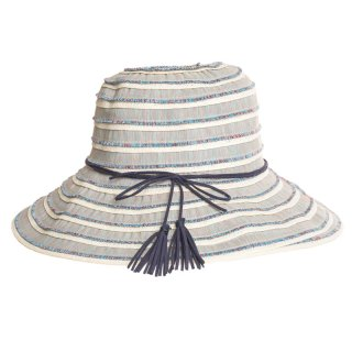 Wholesale blue coloured hat with tassel band