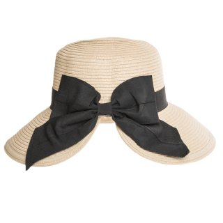 Ladies straw hat with large bow available for wholesale purchase from hat supplier SSP Hats