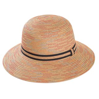Wholesale ladies short brim straw hat in tan colours