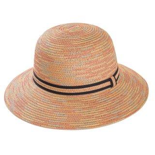 Wholesale ladies short brim straw hat in tan colours