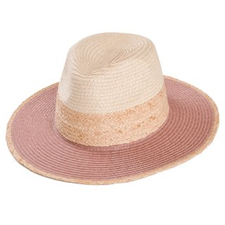 Wholesale ladies straw/raffia fedora hat