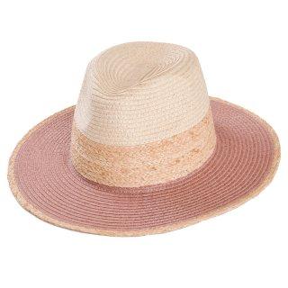 Wholesale ladies straw/raffia fedora hat