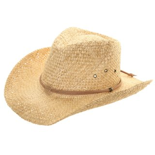 Wholesale straw cowboy with inside elastic in beige