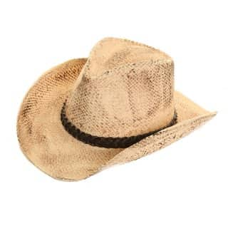 Wholesale vintage look straw cowboy hat