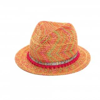 GIRLS STRAW TRILBY