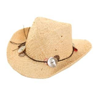 Wholesale childrens cowboy hat with bead and band detail