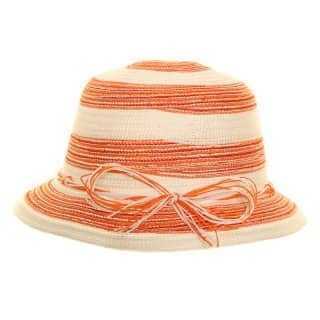 Wholesale girls red and white multicoloured straw hat