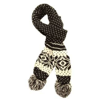 SCARF23 - LADIES FAIRISLE KNITTED SCARF