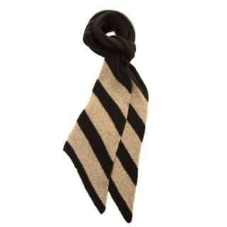 Wholesale ladies black and beige knitted scarf with lurex