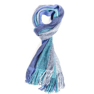 Wholesale blue mens block colour scarf