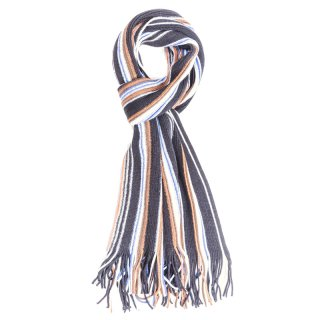 Wholesale black mens striped scarf