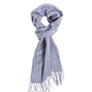 Wholesale mens blue striped check scarf