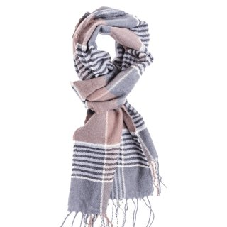 Wholesale mens brown check scarf