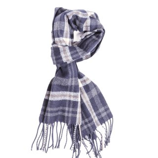 Wholesale navy mens check scarf
