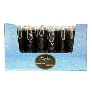 Wholesale black super mini umbrella with display box