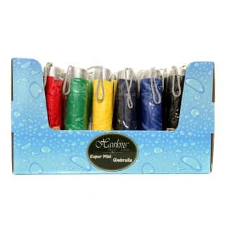 Wholesale super mini umbrella in display box with assorted colours