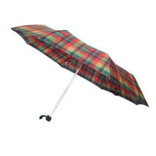 U71 - PK OF 3 UNISEX RED CHECK UMBRELLAS
