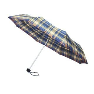 U73 - PK OF 3 UNISEX BLUE CHECK UMBRELLAS