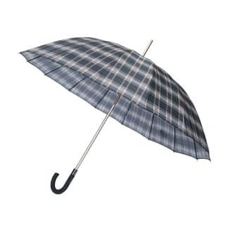 U77 - PK OF 3 UNISEX LARGE BROWN CHECK UMBRELLAS