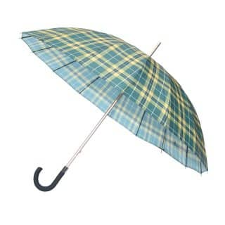 U78 - PK OF 3 UNISEX LARGE GREEN CHECK UMBRELLA