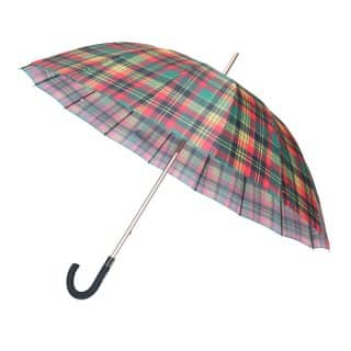 U79 - PK OF 3 UNISEX LARGE RED CHECK UMBRELLA