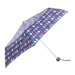 Wholesale ladies telescopic umbrella with raindrop patterned design