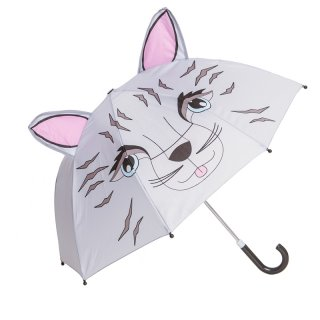 Wholesale kids cat print umbrellas