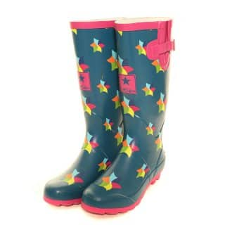 Wholesale womens windmill printed matt rubber wellington
