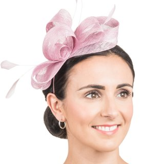 Wholesale fascinator headband with loops and feathers in dusk