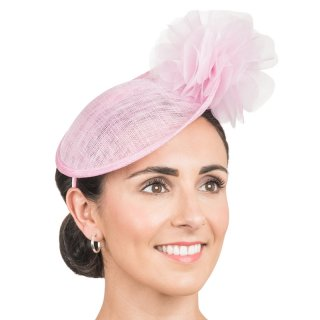 Wholesale Sinamay fascinator disc with crin ruffle in blossom