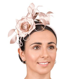 Wholesale handmade rose & leaf on wedding headband