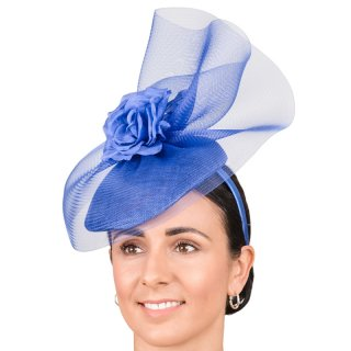 Wholesale fascinator with fabric form and flowers