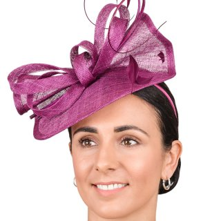 Wholesale fascinators with exquisite sinamay bow and feather