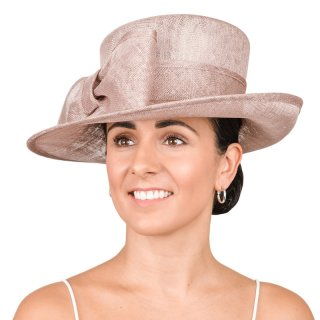 Wholesale wedding hat featuring a wide brim and developed from sinamay