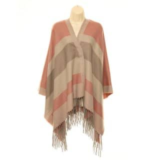 Wholesale ladies pastel pink striped wrap